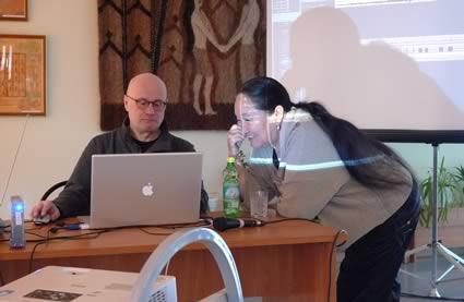 Vorbereitungen zum Duokonzert mit Stepanida Borisova
